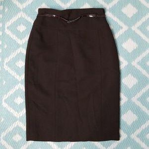 Calvin Klein sz 2 Brown Pencil skirt Career